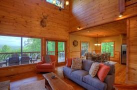 High Hopes | Cabin Rentals of Georgia | Living Area and Mountain Views