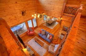 High Hopes | Cabin Rentals of Georgia | Living Area Overview