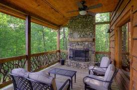 High Hopes | Cabin Rentals of Georgia | Outdoor Living w/ Fireplace, Conversational Seatin