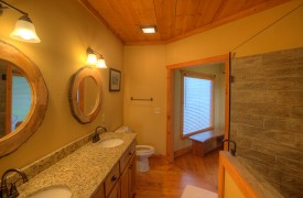 High Hopes | Cabin Rentals of Georgia | King Master Ensuite Bath