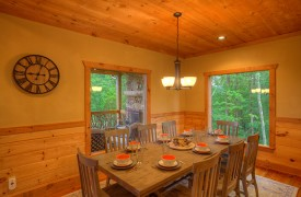 High Hopes | Cabin Rentals of Georgia | Dining Area for 8 and Picture Windows