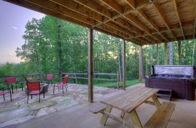 High Hopes | Cabin Rentals of Georgia | Terrace Level Hot Tub, Picnic Table, Fire Pit