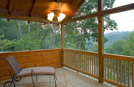 A Rolling River Cabin | Cabin Rentals of Georgia | Private Balcony