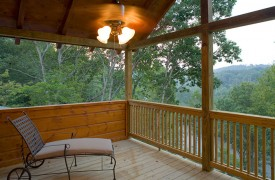 A Rolling River Cabin | Cabin Rentals of Georgia | Private Porch and River Views