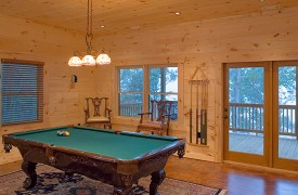 A Rolling River Cabin | Cabin Rentals of Georgia | Billiards Room