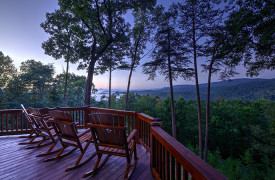 Blue Ridge Bliss | Cabin Rentals of Georgia | Mountain Views at Dusk
