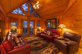 Blue Ridge Bliss | Cabin Rentals of Georgia | Luxe Living Area