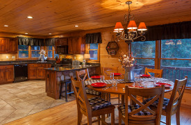 Blue Ridge Bliss | Cabin Rentals of Georgia | Spacious Kitchen and Dining