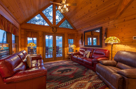 Blue Ridge Bliss | Cabin Rentals of Georgia | Living Area w/ Views