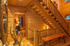 Blue Ridge Bliss | Cabin Rentals of Georgia | Foyer w/ Stairs Up/Down