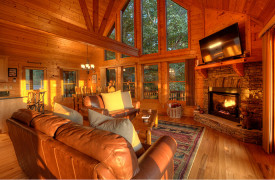 Happy Ours Lodge | Cabin Rentals of Georgia | Open Floor Pla