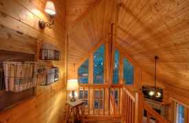 Happy Ours Lodge | Cabin Rentals of Georgia | Small Library