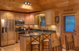 Happy Ours Lodge | Cabin Rentals of Georgia | Kitchen