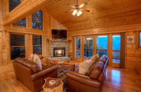 Happy Ours Lodge | Cabin Rentals of Georgia | Living Area