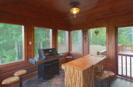 Serendipity On Noontootla Creek | Cabin Rentals of Georgia | Grill Room