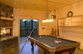 Aska Adventure Outpost | Cabin Rentals of Georgia | Billiards Room