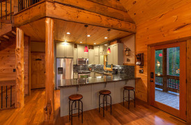 Blue Ridge Lake Sanctuary | Cabin Rentals of Georgia | Custom Kitchen