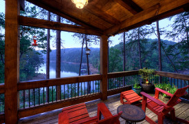 Blue Ridge Lake Sanctuary | Cabin Rentals of Georgia | Porch Living and Lake Views