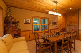 Blue Ridge Lake Sanctuary | Cabin Rentals of Georgia | Terrace Level Dining