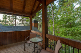Blue Ridge Lake Sanctuary | Cabin Rentals of Georgia | Private Porch off King Suite