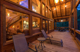 Blue Ridge Lake Sanctuary | Cabin Rentals of Georgia | Main Level Porch