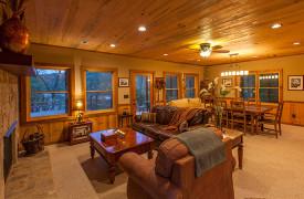 Blue Ridge Lake Sanctuary | Cabin Rentals of Georgia | Terrace Level Living Space