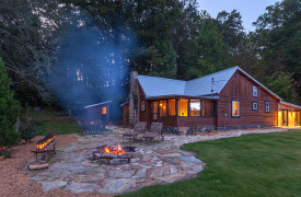 Cherokee Sunrise on Noontootla Creek | Cabin Rentals of Georgia | Fire Pit