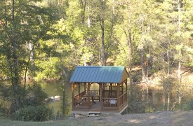 Aska Adventure Outpost | Cabin Rentals of Georgia | River Gazebo