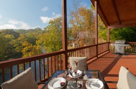 Hiwassee River Sanctuary | Cabin Rentals of Georgia | Wrap-Around Deck