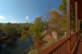 Hiwassee River Sanctuary | Cabin Rentals of Georgia | River Below