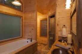 Arcadia | Cabin Rentals of Georgia | King Suite Bath