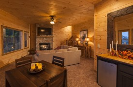 Arcadia | Cabin Rentals of Georgia | Terrace Level Living Area