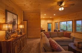 Arcadia | Cabin Rentals of Georgia | Terrace Level Entertainment Area