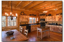 Riverview Lodge | Cabin Rentals of Georgia | Spacious Gourmet Kitchen
