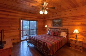Hiwassee River Run | Cabin Rentals of Georgia | Second King Bedroom