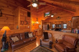 Hiwassee River Run | Cabin Rentals of Georgia | All-Wood Interior