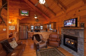 Hiwassee River Run | Cabin Rentals of Georgia | Cozy Living Area