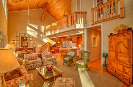 Blue Ridge Lake Cottage | Cabin Rentals of Georgia | Living Area