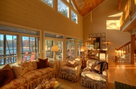 Blue Ridge Lake Cottage | Cabin Rentals of Georgia | Cozy Living Area