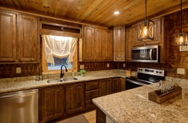 Our True Blue | Blue Ridge Cabin Rentals | Cabin Rentals of Georgia | Fully stocked spacious kitchen