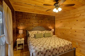 Our True Blue | Blue Ridge Cabin Rentals | Cabin Rentals of Georgia | Upstairs King Bedroom w/ sunrise views
