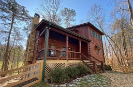 Our True Blue | Blue Ridge Cabin Rentals | Cabin Rentals of Georgia | Front Exterior of Our True Blue