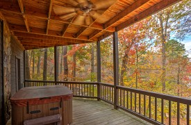Blue Ridge Lake Cottage | Cabin Rentals of Georgia | Terrace Level Hot Tub