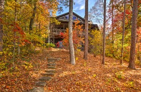 Blue Ridge Lake Cottage | Cabin Rentals of Georgia | Autumn Views of Cottage