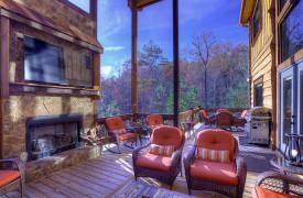 The Great Getaway | Cabin Rentals of Georgia | Grand Outdoor Living Area