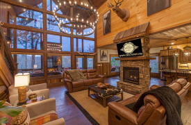 The Great Getaway | Cabin Rentals of Georgia | Grand Living Area