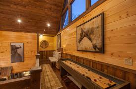 The Great Getaway | Cabin Rentals of Georgia | Loft and Shuffleboard