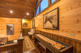 The Great Getaway | Cabin Rentals of Georgia | Loft and Shuffleboard