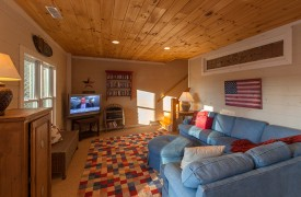 Blue Ridge Lake Cottage | Cabin Rentals of Georgia | Terrace Level Living Area