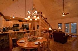 A Rivers Bend | Cabin Rentals of Georgia | Open Floor Plan